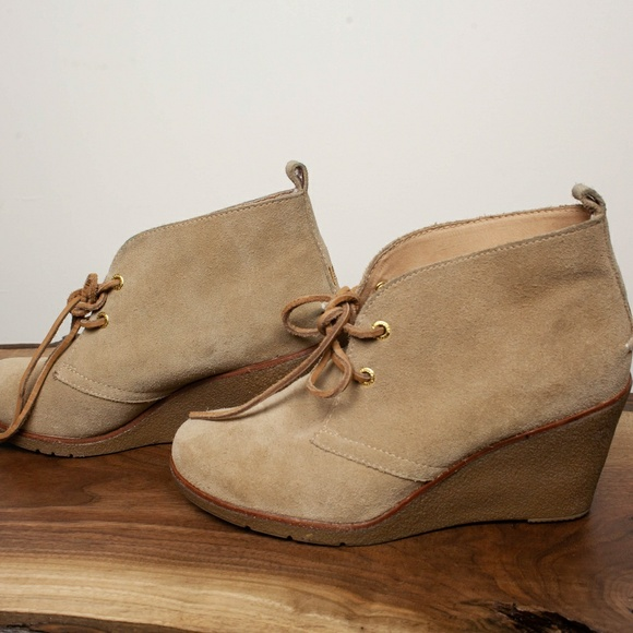 Sperry Shoes | Suede Tan Wedges Size 8
